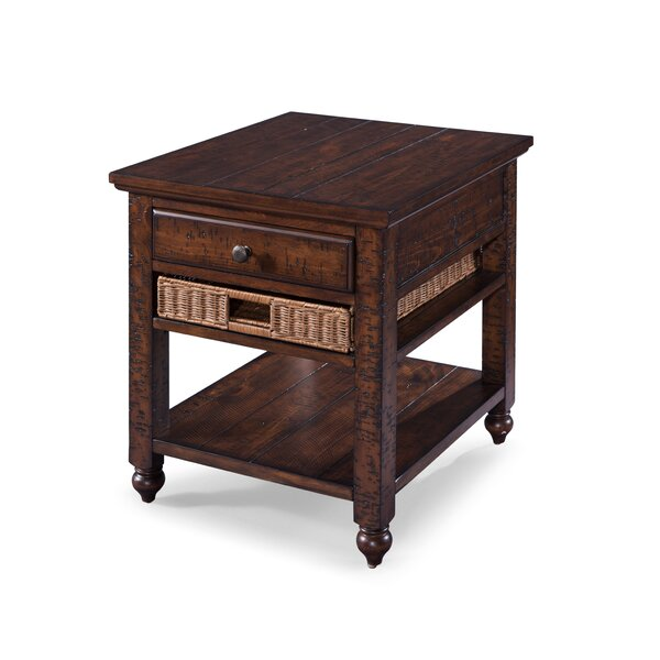 Hebron End Table by August Grove