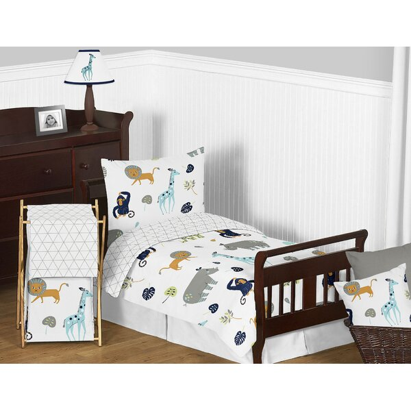 Mod Jungle 5 Piece Toddler Bedding Set by Sweet Jojo Designs
