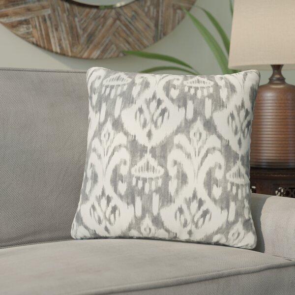 Peabody Ikat Indoor/Outdoor Flange Throw Pillow (Set of 2) by Andover Mills