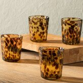 Classic Tortoise Recycled Glass Short 8 oz. Tumbler (Set of 4) by VivaTerra