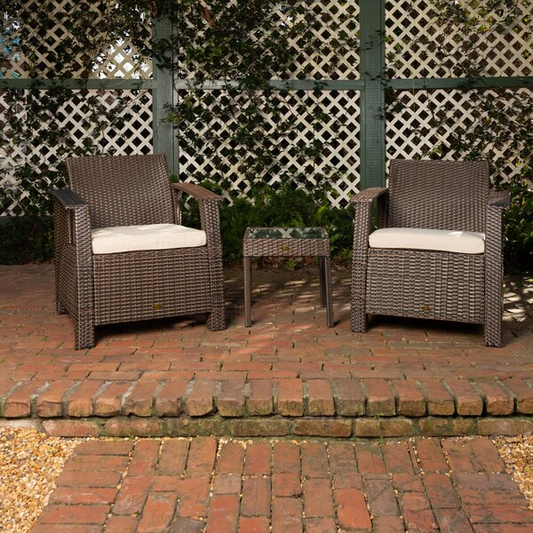 Bondi 3 Piece Seating Group with Cushions by PatioSense