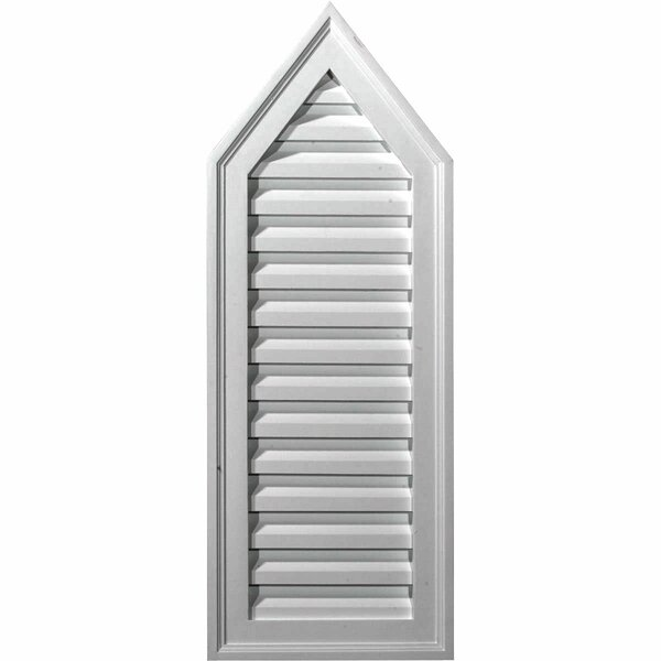 30H x 12W x 1 3/4D Peaked Gable Vent by Ekena Millwork