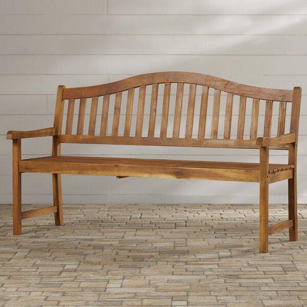 Volusia Wooden Garden Bench by Beachcrest Home