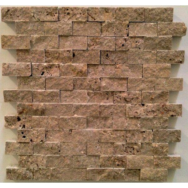 1 x 2 Travertine Splitface Tile in Noche by Ephesus Stones