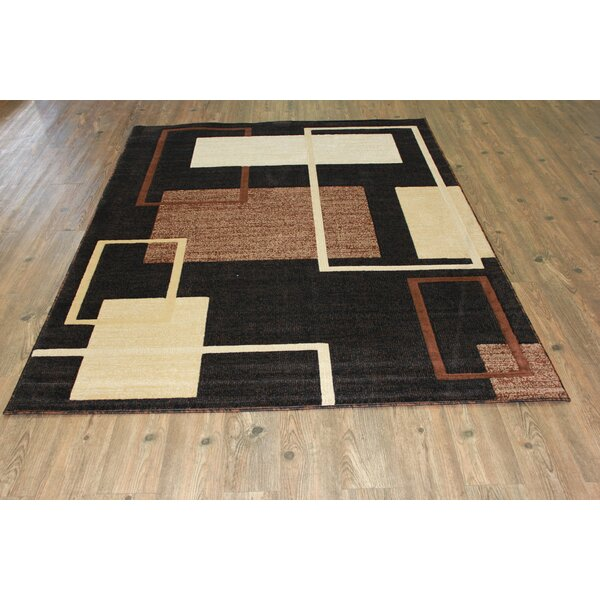 Smither Contemporary Black Area Rug by Orren Ellis
