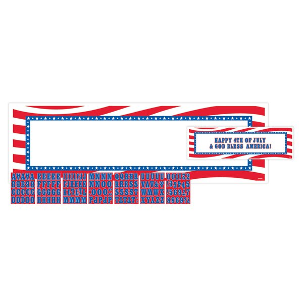 Patriotic Personalizable Giant Sign Banner by Amscan