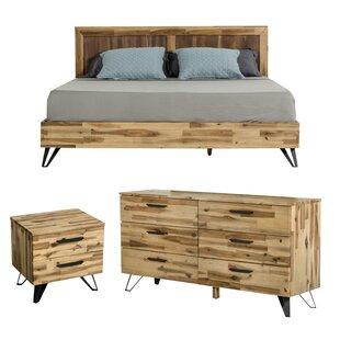 Rashida Light Wood Configurable Bedroom Set