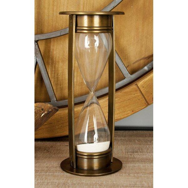 Novice Aluminum Glass Hourglass by Greyleigh