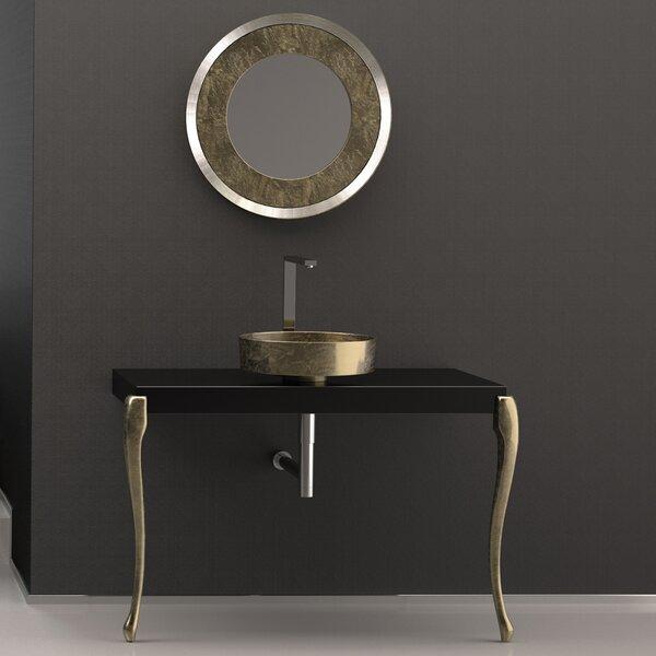 Musa Contemporary Square Console Bathroom Sink