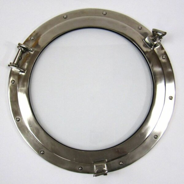 Deshong Porthole Window Nautical Accent Mirror Frame by Breakwater Bay