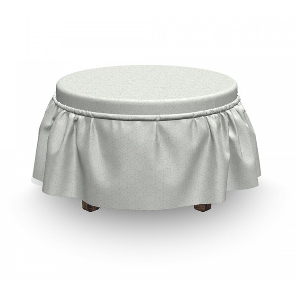Monochrome Stars Ottoman Slipcover (Set Of 2) By East Urban Home