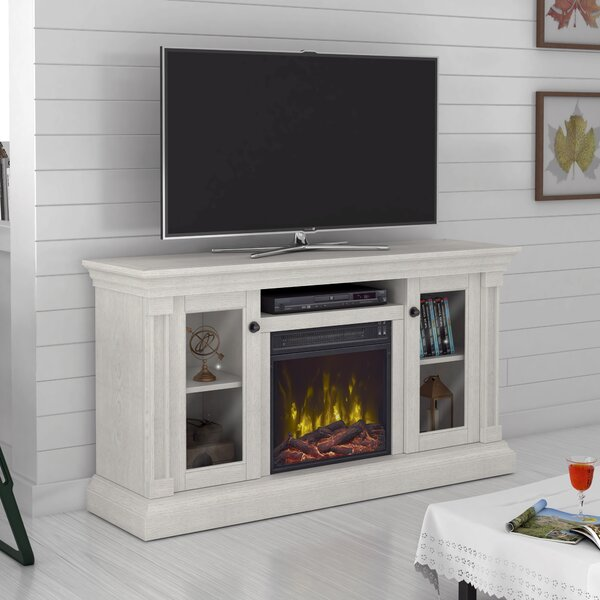 Annmarie 55 TV Stand with Optional Fireplace by Highland Dunes