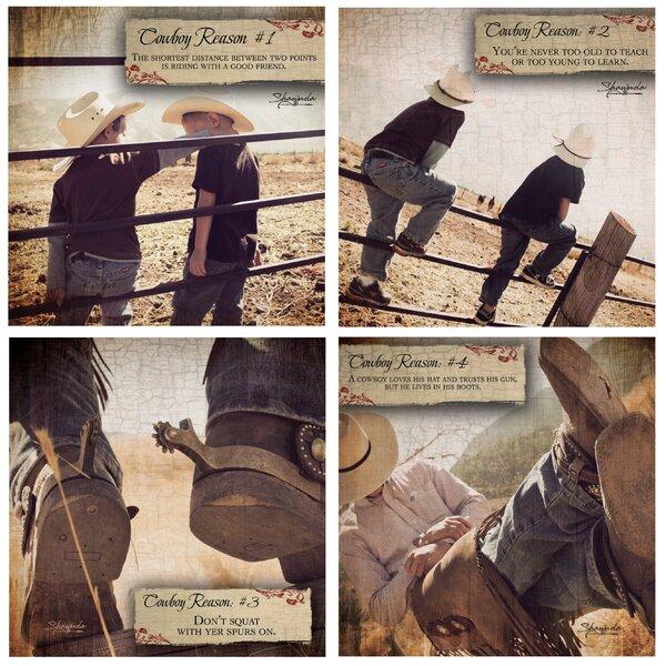 4 Piece Cowboy Reason Coaster Set by Thirstystone