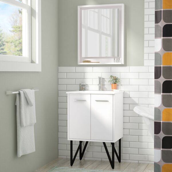 Almaraz 24 Single Bathroom Vanity Set with Mirror by Langley Street