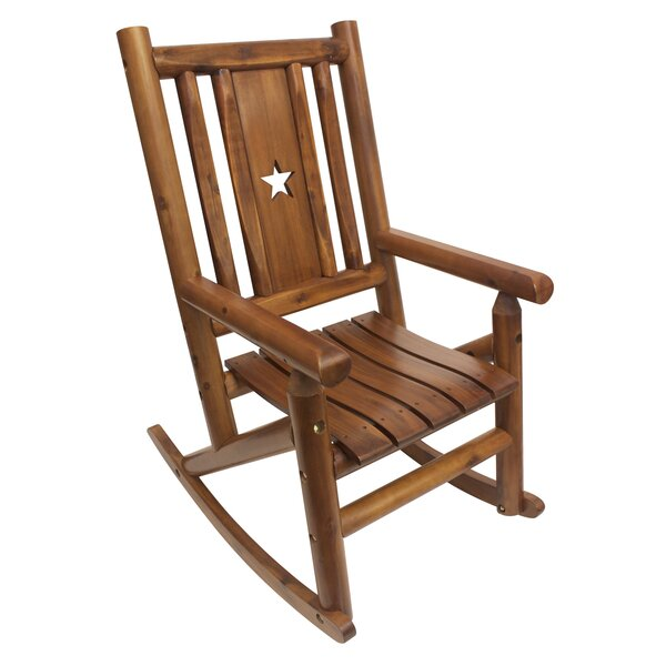 Plinio Star Single Porch Rocking Chair by Charlton Home