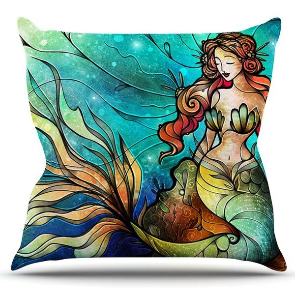 Serene Siren by Mandie Manzano Outdoor Throw Pillow by East Urban Home