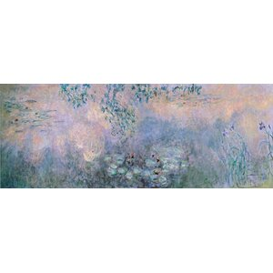 'Water Lilies 1914-22' by Claude Monet Painting Print on Wrapped Canvas by Trademark Fine Art