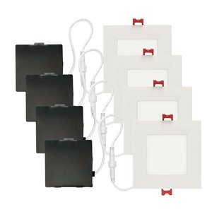 Reviews Slimline 4.88 LED Recessed Lighting Kit By Globe Electric Company