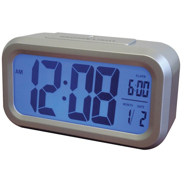 Smart Backlight Alarm Table Clock by Ebern Designs