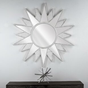 Great Price Dipaolo Starburst Framed Hanging Vanity Wall Mirror By Bungalow Rose