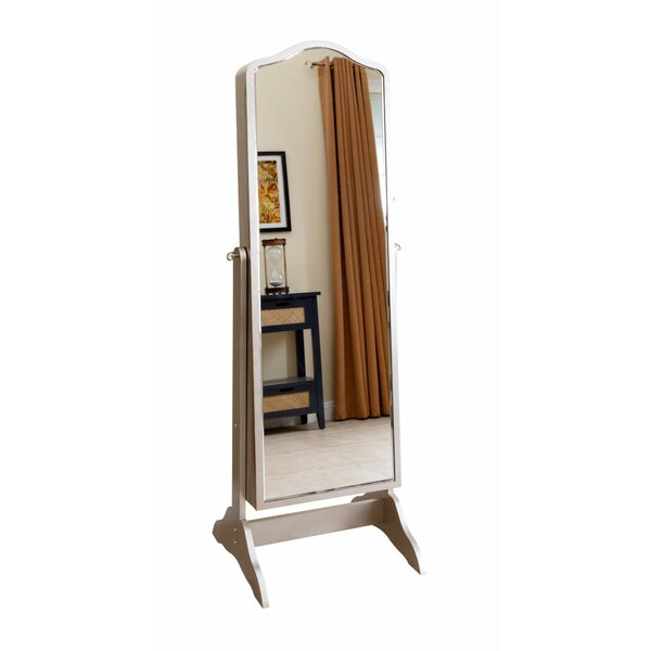 Auston Free Standing Jewelry Armoire with Mirror by Rosdorf Park