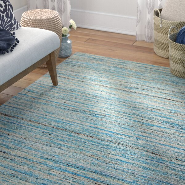 Fagan Light Blue Area Rug by Bungalow Rose