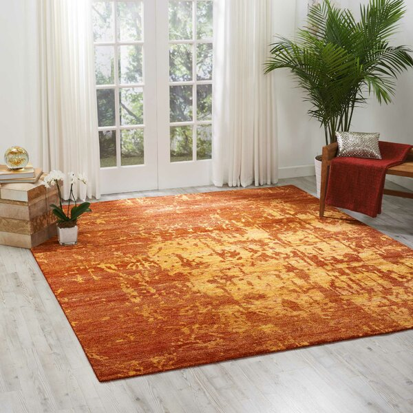 Preminger Hand-Knotted Flame Area Rug