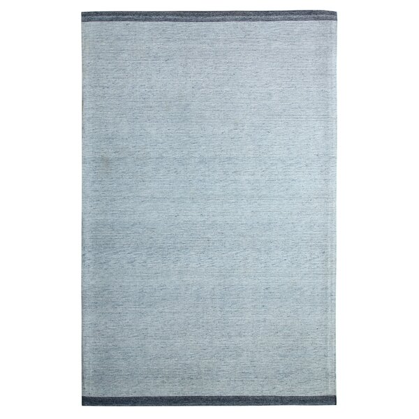 Hawtree Hand-Woven Blue Area Rug by Ebern Designs