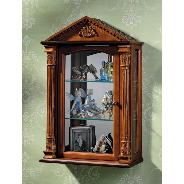 Essex Hall Wall-Mounted Curio Cabinet by Design Toscano