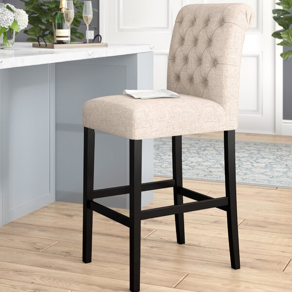 Urbana Tall Upholstered Bar Stool (Set of 2) by Darby Home CoUrbana Tall Upholstered Bar Stool (Set of 2) by Darby Home Co