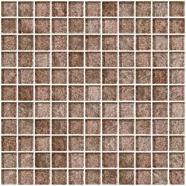 1 x 1 Glass Mosaic Tile in Mocha Pearl by Susan Jablon