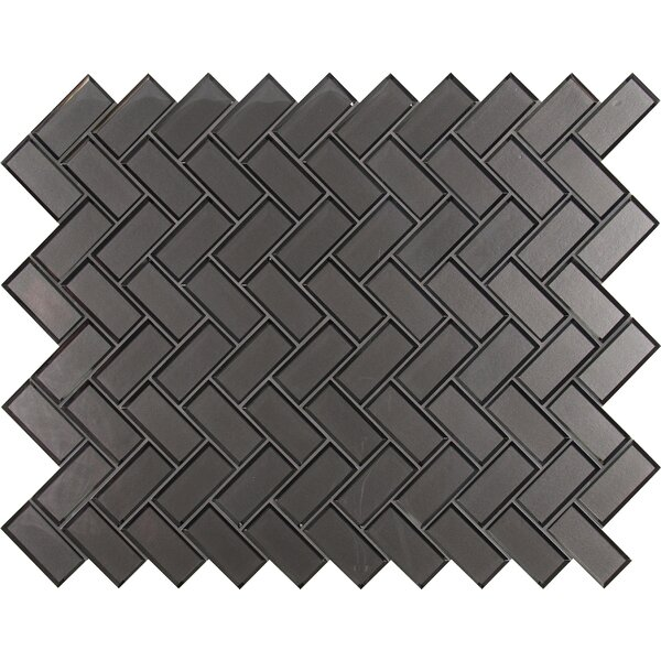 Metallic 11.08 x 13.86 Beveled Glass Mosaic Tile in Gray by MSI