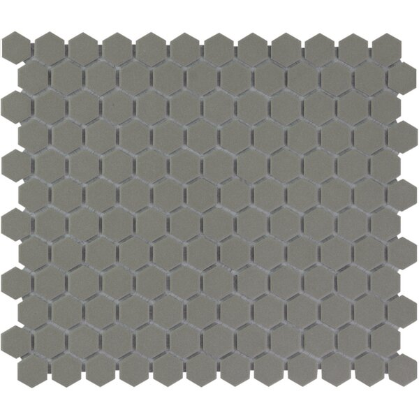 London 1 x 1 Porcelain Mosaic Tile in Gray by The Mosaic Factory