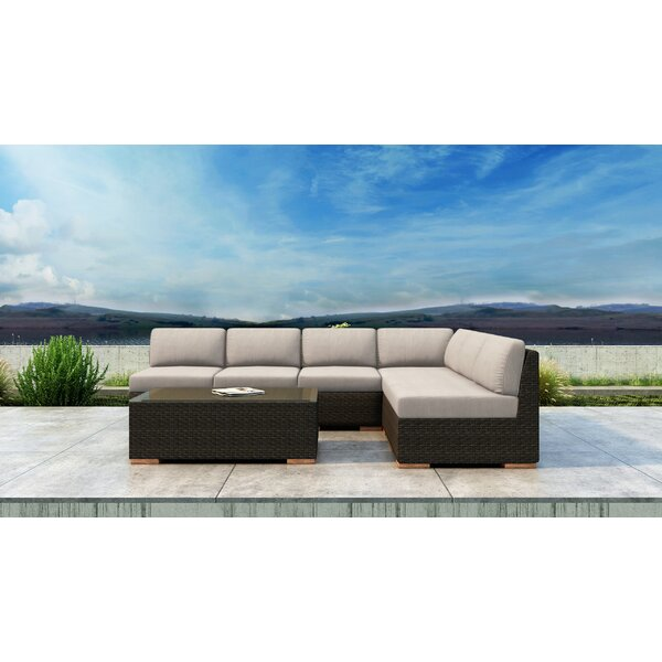 Glen Ellyn 7 Piece Sectional Set with Sunbrella Cushion by Everly Quinn