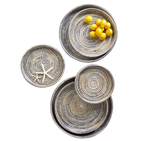 Nested Woven 6 Piece Accent Tray Set by Rosecliff Heights