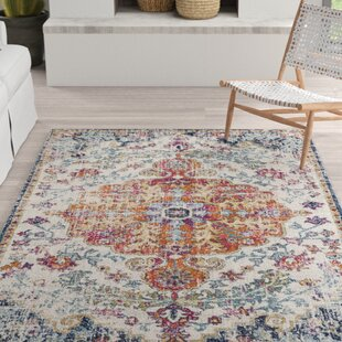 Hillsby Orange/Navy Area Rug by Mistana
