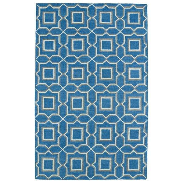 Christien Blue Geometric Area Rug by Zipcode Design
