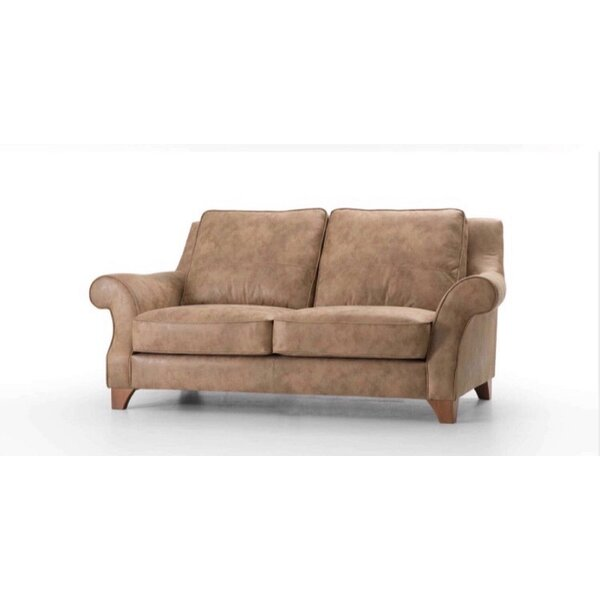 Review Swilley Leather Loveseat