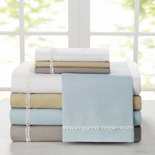 Shop Capel Pom-Pom Solid Sheet Set ByCharlton Home
