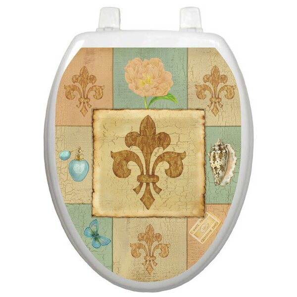 French Lily Collage Toilet Seat Decal by Toilet Tattoos