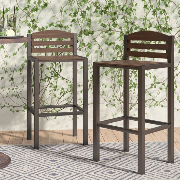Pulcova 29.92 Patio Bar Stool (Set of 2) by Mercury Row| @ $136.99