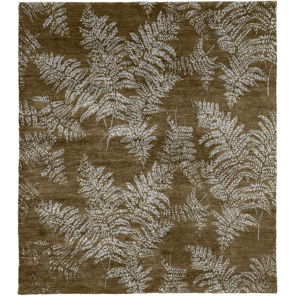 One-of-a-Kind Treasa Hand-Knotted Brown 12' x 18' Wool Area Rug