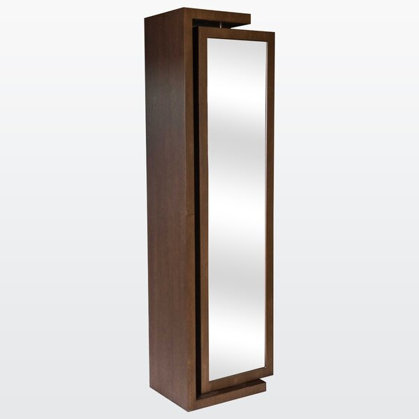 Her Wall Mounted Jewelry Armoire with Mirror by REZ Furniture
