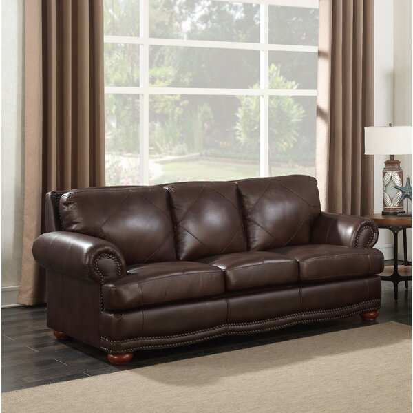Price Compare Bednarek Premium Leather Sofa by Darby Home Co by Darby Home Co