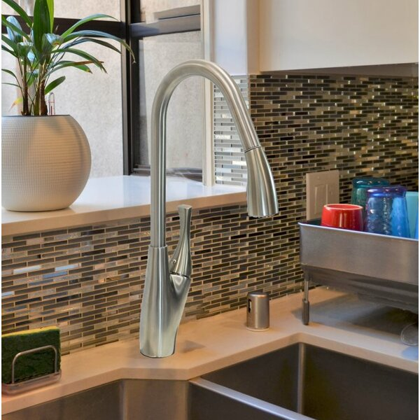 Pull Down Single Handle Kitchen Faucet by KEE KEE