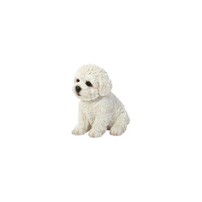 Sitting Bichon Frise Puppy Statue