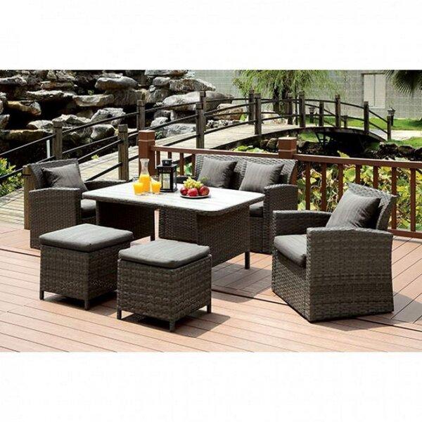 Debi 6 PC Patio Sofa Set by Brayden Studio