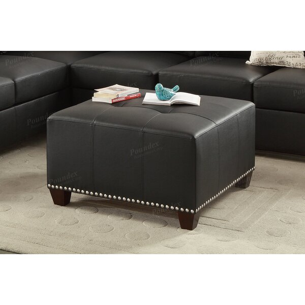 Manila Cocktail Tufted Ottoman by Three Posts