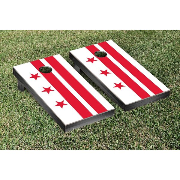 District of Columbia Flag Cornhole Game Set by Victory Tailgate