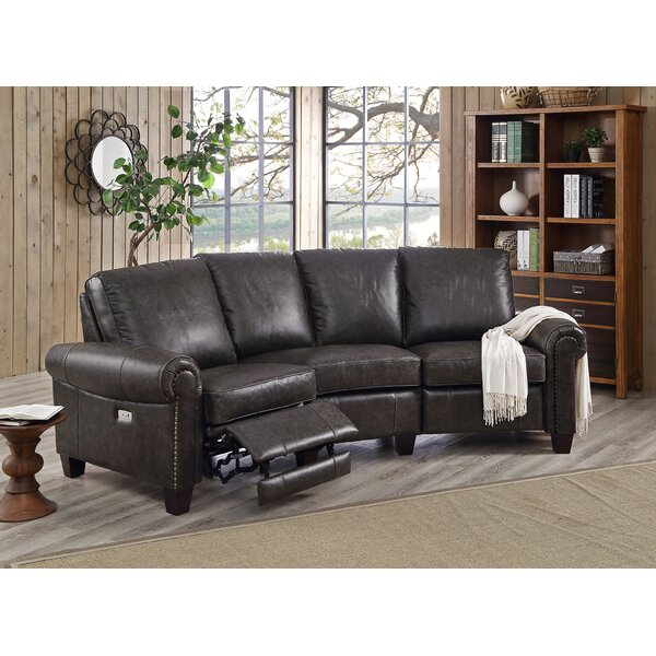 Kowalczyk Leather Reclining Sectional by Red Barrel Studio